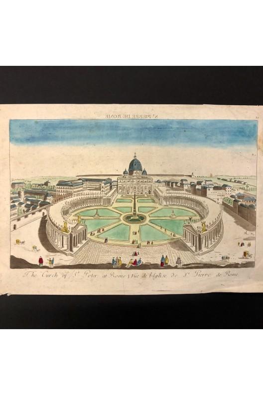 Vue d'optique de l'église St-Pierre de Rome