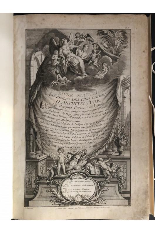 Vignole / Blondel / règle des 5 ordres / 1761 / recueil des plus beaux édifices