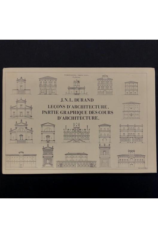 J. N. L. Durand  / Leçons d'architecture.