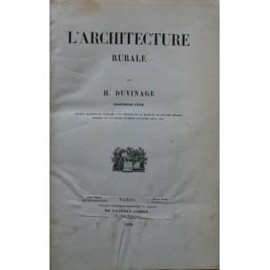 L'Architecture rurale par H. Duvinage. 1856