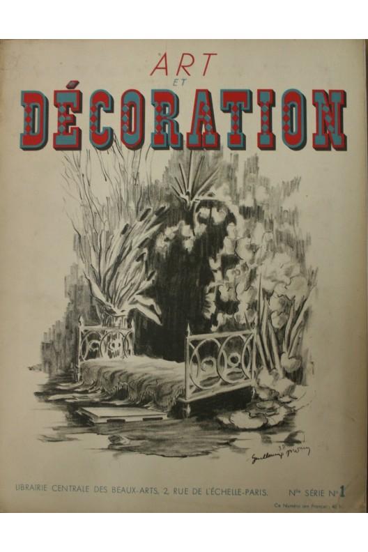 Art et Décoration 1939 - Jean Michel Frank, Bureau par Charlotte Perriand, Arbus