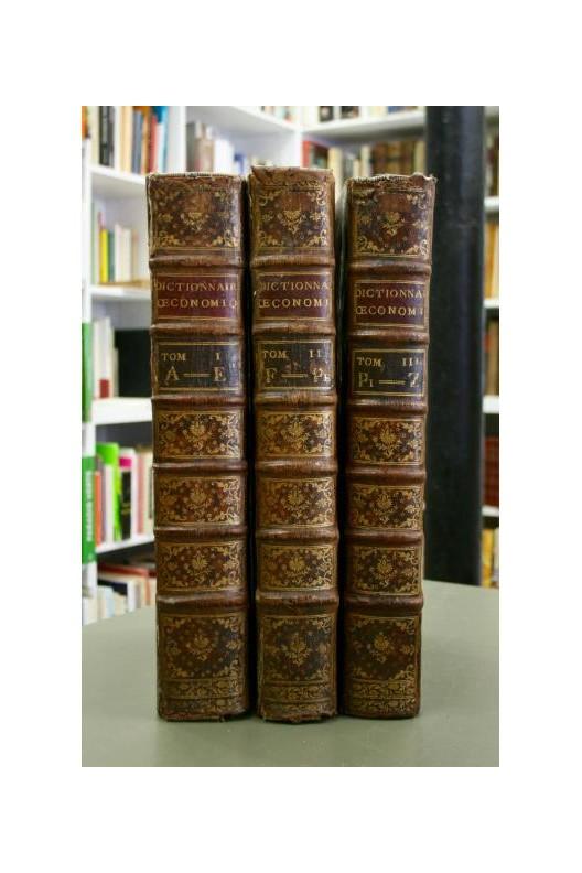 NOEL CHOMEL Dictionnaire oeconomique par De La Marre 1767