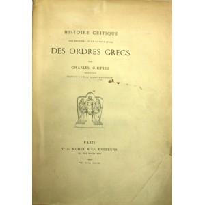 Histoire critique des ordres grecs par Charles Chipiez