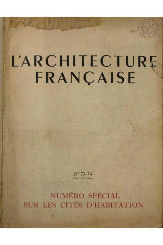 L'Architecture française n° 73-74