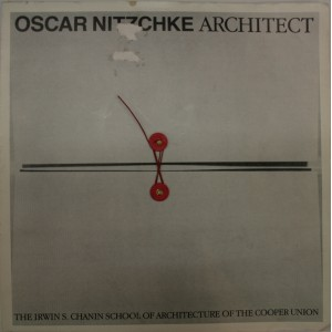 Oscar Nitzchke Architect. catalogue d'exposition