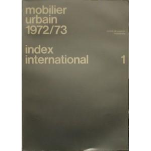 Mobilier urbain 1972/73 Index international 1
