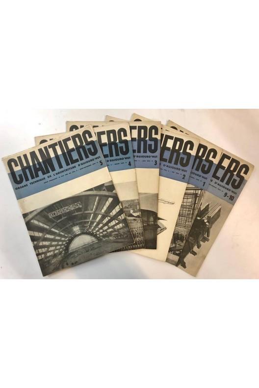 Chantiers / Lot de 6 numéros de 1934 / Rarissime !