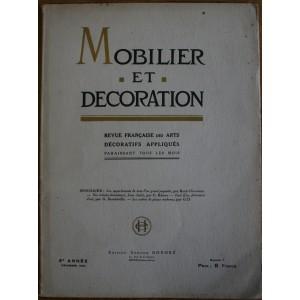 Mobilier et Décoration décembre 1925