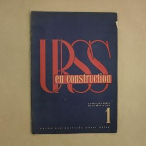 URSS en construction numéro 1 janvier 1933