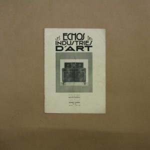Les Échos des Industries d'Art n° 10 de mai 1926