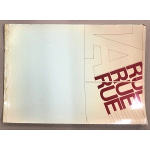 AUA / la rue / 1969 plaquette originale