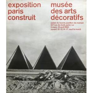 EXPOSITION PARIS CONSTRUIT / AFFICHE ORIGINALE 1960
