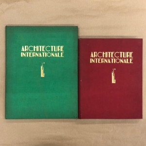 Architecture internationale / Marcel Chappey / 2 volumes