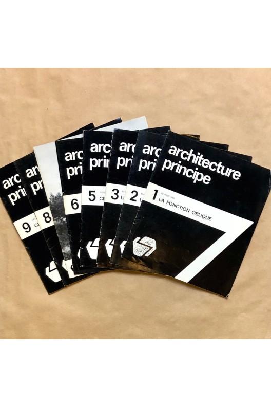 Architecture principe / Claude Parent et Paul Virilio.