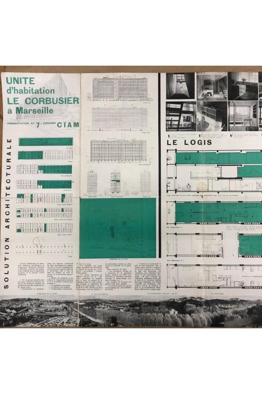 CIAM 7. Unité d'Habitation à Marseille. Affiche