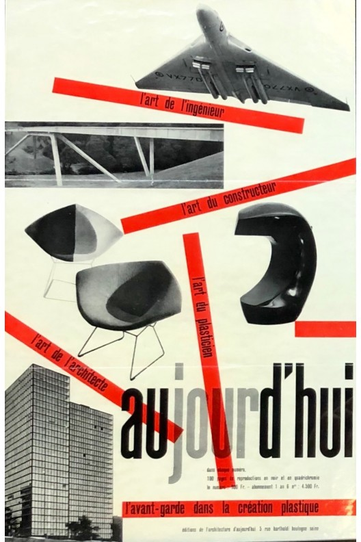 Affiche originale Aujourd'hui Art et Architecture 1955
