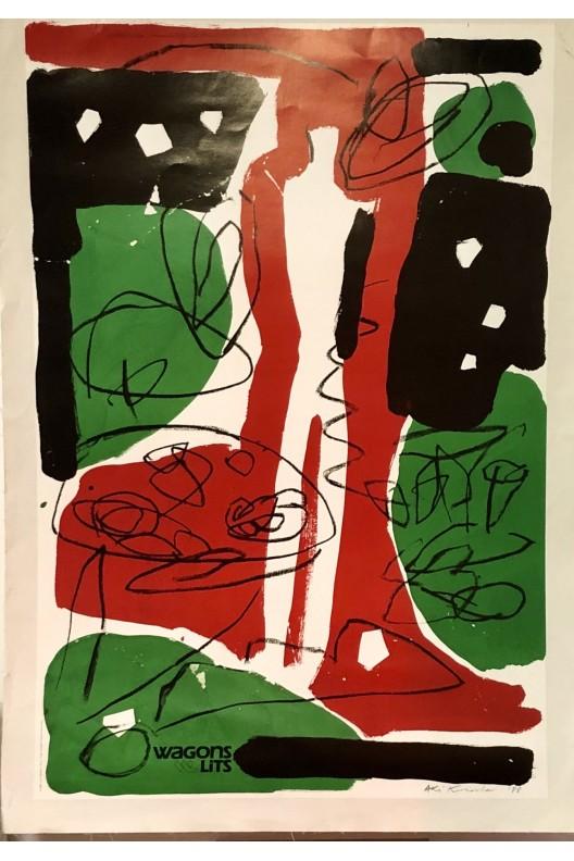 AKI KURODA / Affiche Wagons lits 1988