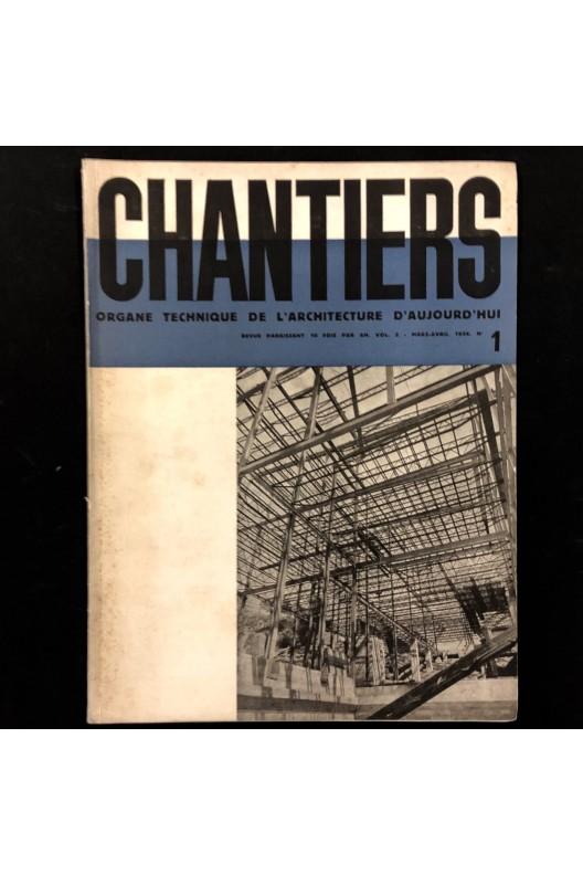 Revue Chantiers n° 1 mars - avril 1934 / maisons usinées.