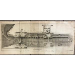 Marine, plan des formes bâties à Rochefort / construction des vaisseaux du Roy