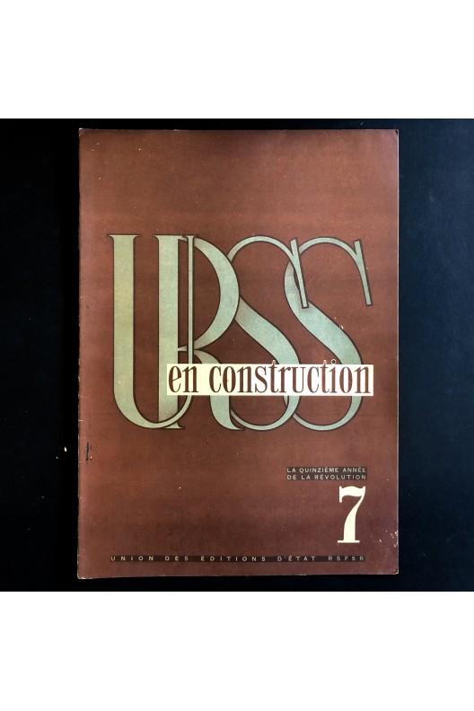 URSS en construction n°7 de juillet 1932