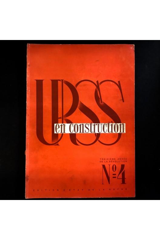URSS en construction n°4 de 1930.