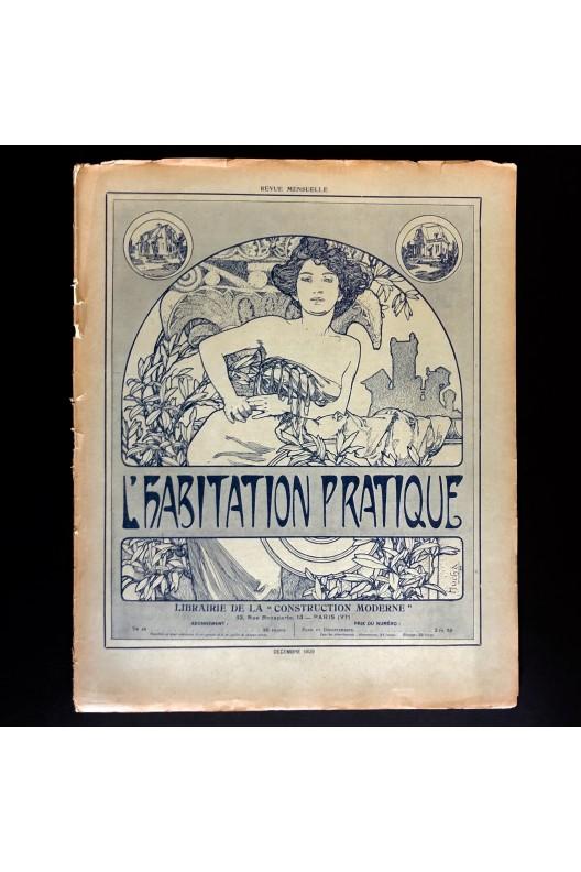 L'habitation pratique décembre 1909 / lithographie Mucha