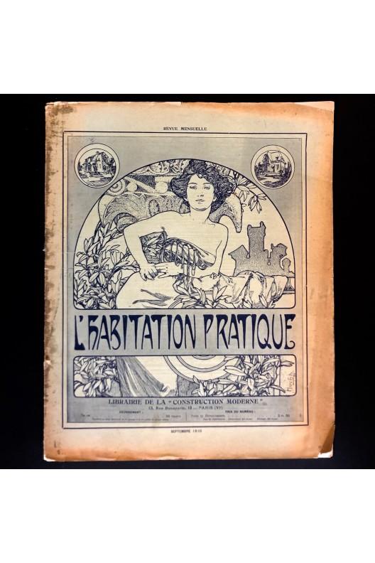 L'habitation pratique septembre 1910 / lithographie Mucha