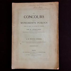 César Daly. Des concours pour les monuments publics