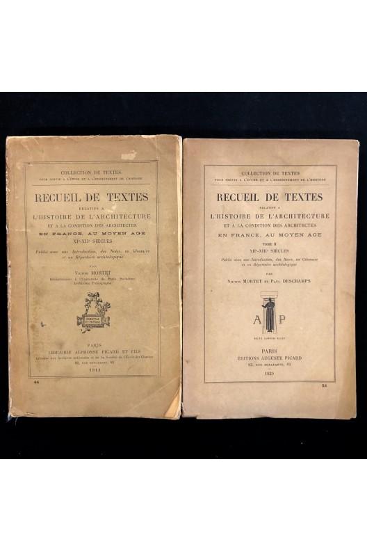 Recueil de textes relatifs à l'histoire de l'architecture.