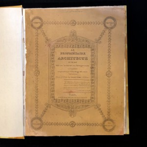 Le propriétaire architecte / Urbain Vitry / 2 tomes / 1827