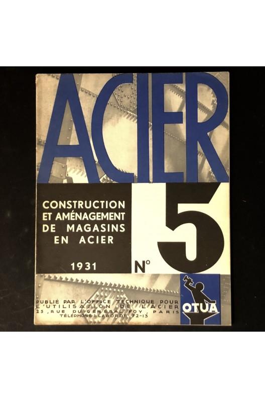 Construction et aménagement de magasins en acier 1931