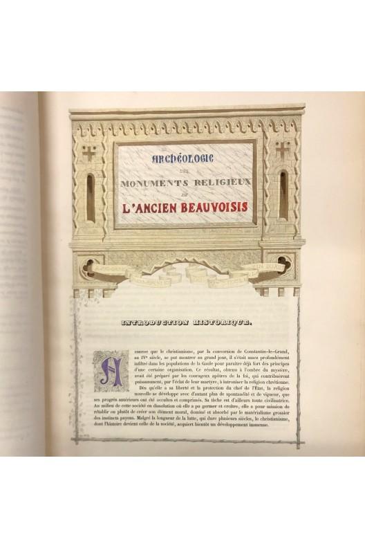 Archéologie des monuments religieux de l'ancien Beauvoisis / 1839 - 1849
