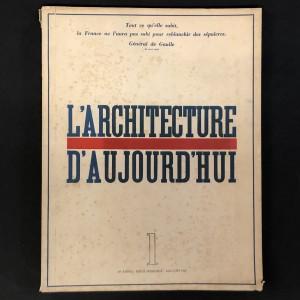 L'architecture d'Aujourd'hui numéro 1 de 1945