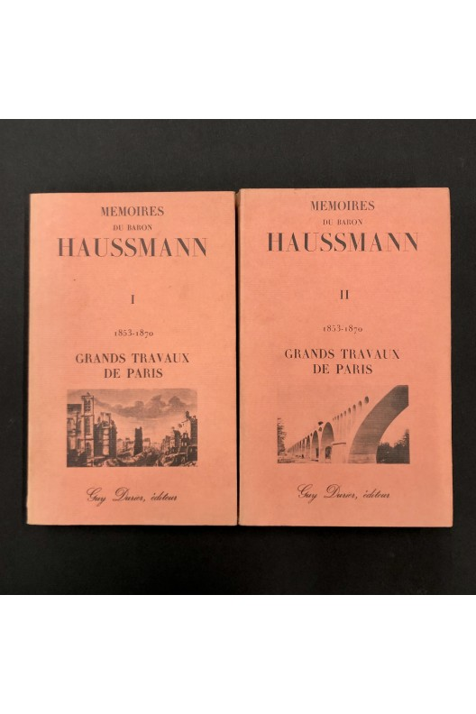 Mémoires du Baron haussmann Tomes 1 et 2